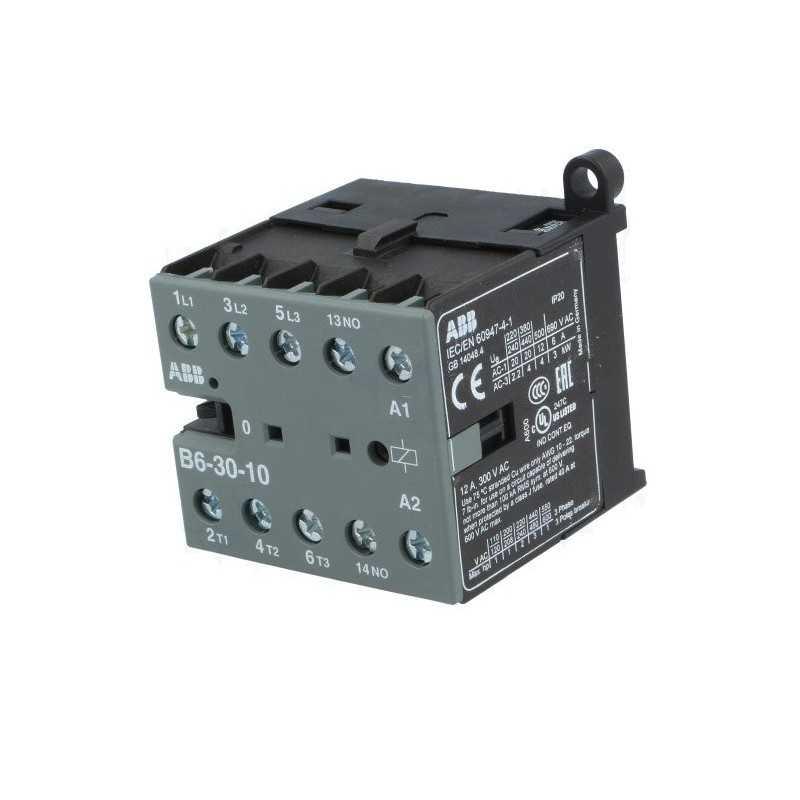 Mini Contactor B6-30-10, Control: 220-240V 40-450Hz - Abb
