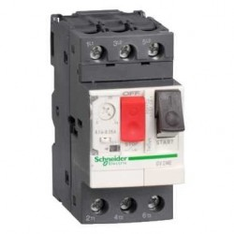 Guardamotor magnetotermico mando por pulsador 3 polos - 1…1,6A  Schneider