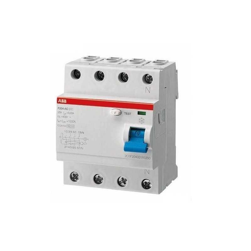 Interruptor Diferencial F200 Ac 4X25A 30Ma - Abb