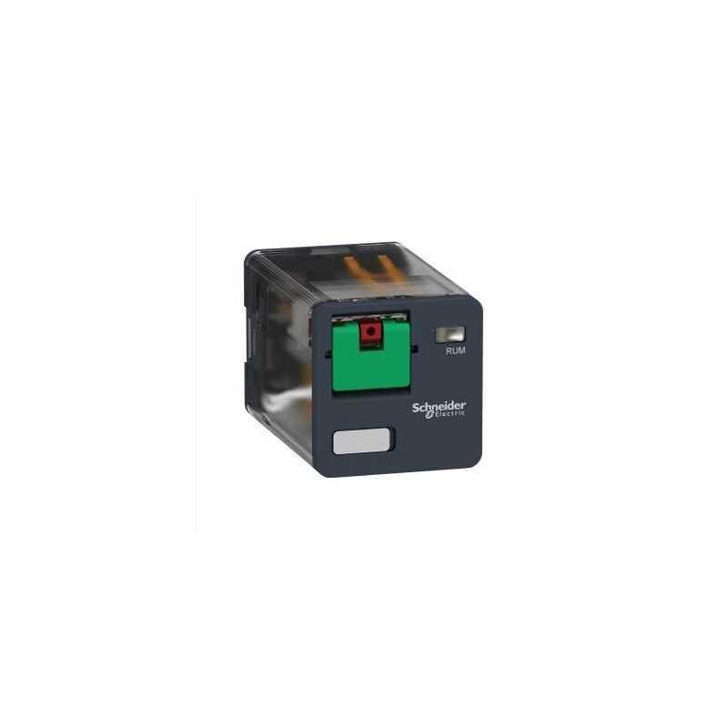 Rele universal automatico boton de test - 230V AC - 10A - 3C/O Schneider