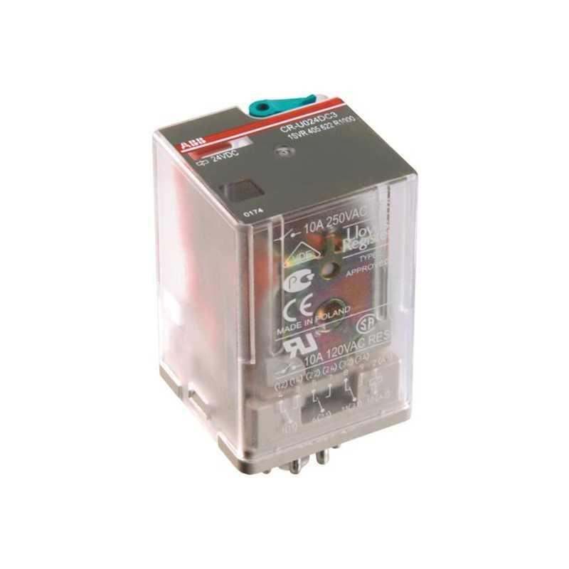 Relé Capsulado Cr-M024Ac4 Control:24V A.C. - Abb