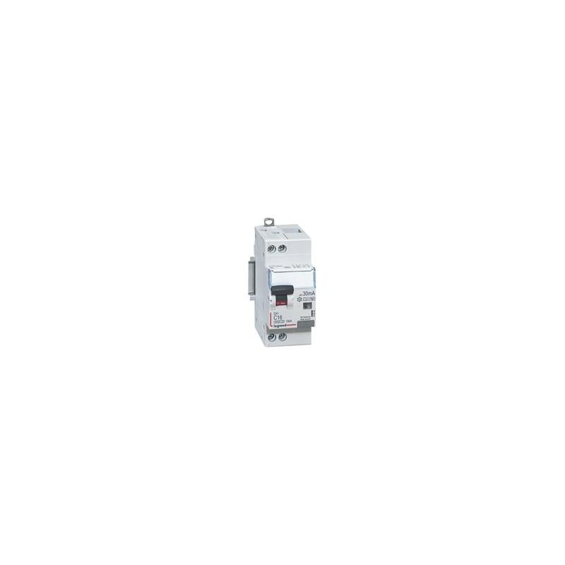 Disyuntor Dx3 Diferenciales Monoblock 6000 10 Ka Curva C  Unipolar+Neutro Tipo  Hpi 30 Ma Legrand