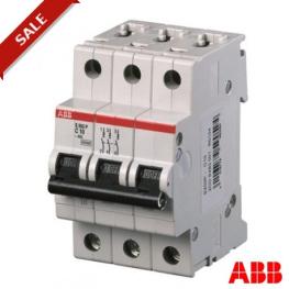 Interruptor Automatico 3P 6A C 25Ka S203P Abb