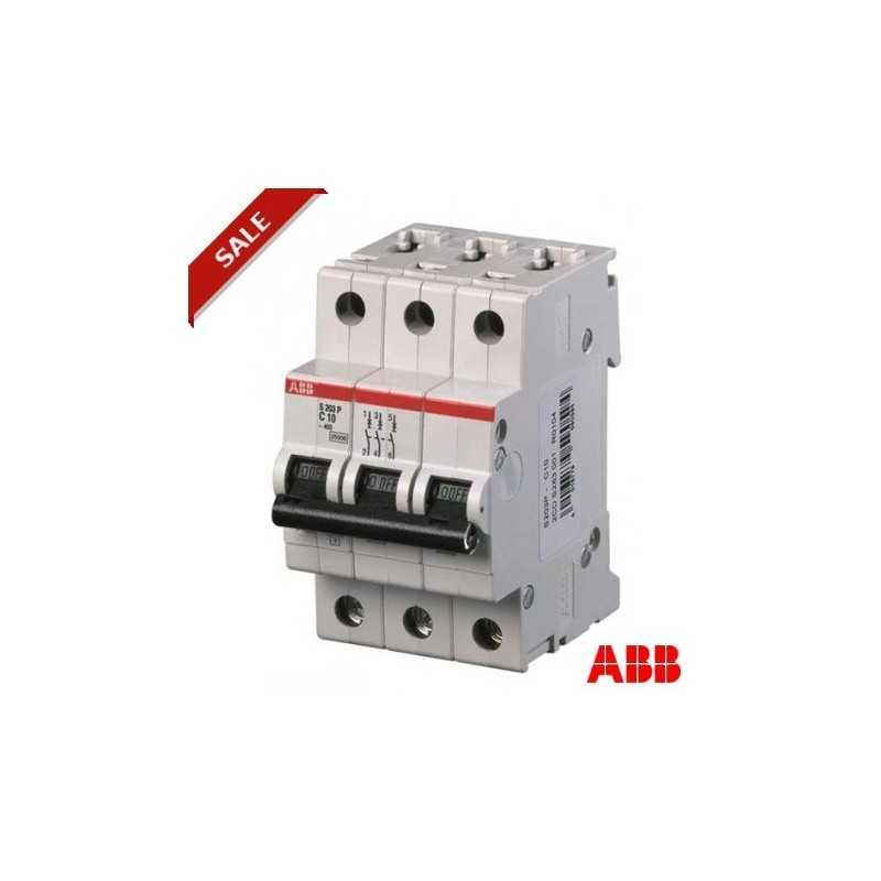 Interruptor Automatico 3P 10A C 25Ka S203P Abb