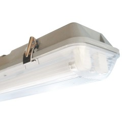 Equipo Fluorescente 2X18W T8 Estanco Ivy100J Ip65 Policarb.B/Electronico  Bm Electric