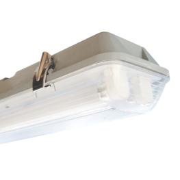 Equipo Fluorescente 2X18W T8 Estanco Ivy100J Ip65 Policarb.B/Electronico  Bm Electric