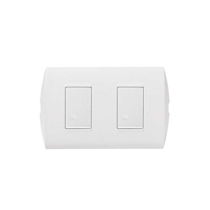 Interruptor  Doble 9/15 Blanco armado Bticino