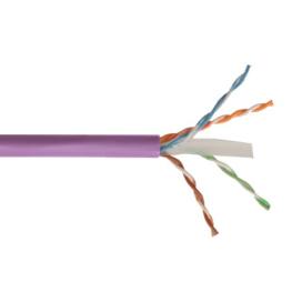 Cable Utp Cat6 Violeta 4Px24Awg  Libre De Halogeno Siemon