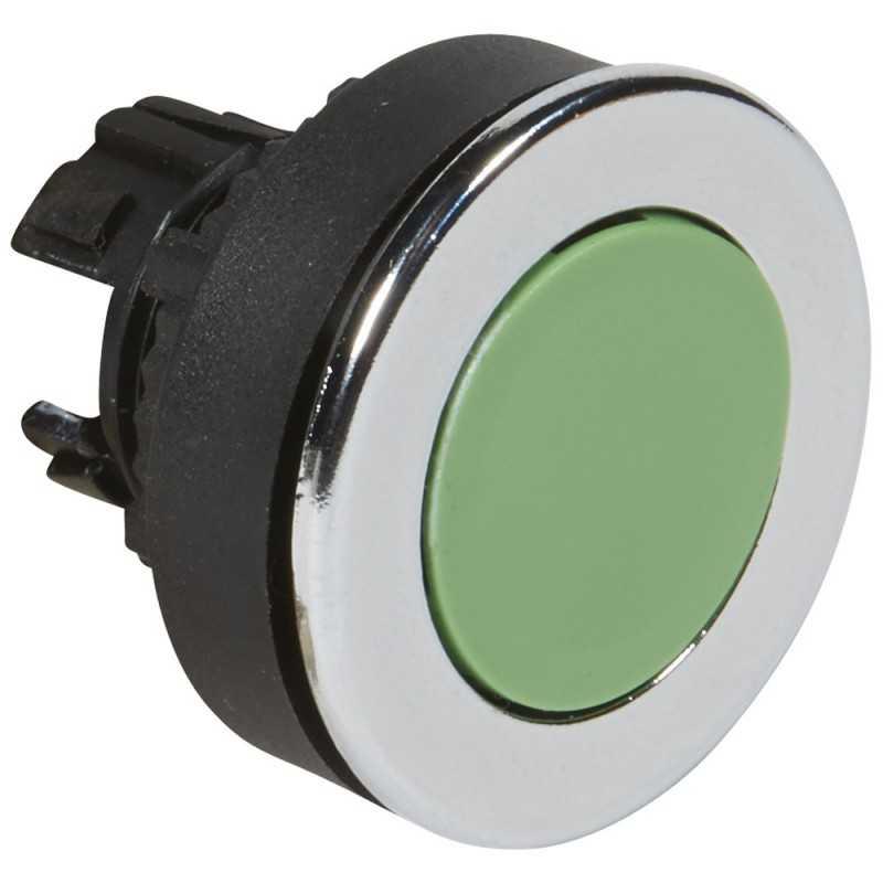 Cabezal Pulsador Verde 30mm - Legrand