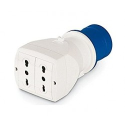 Adaptador Simple 16A 250V Ip 20