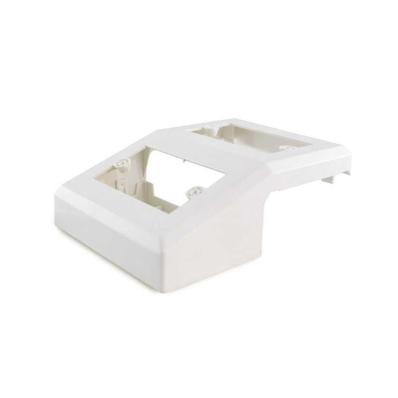 Caja doble 100 x 45mm blanco Dexson