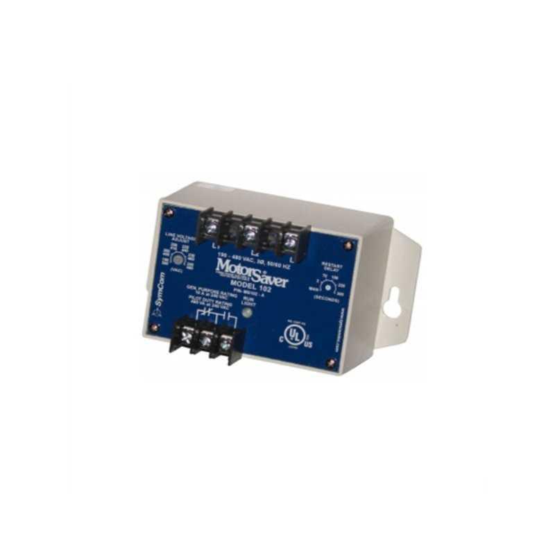 Monitor de Tensión Trifásico/ 190-480V (Ajuste de Tiempo de Trip)