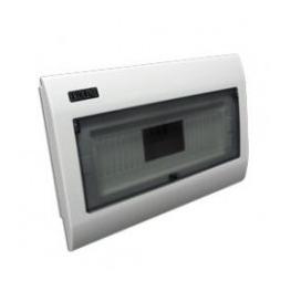 Tablero Modular Embutido Plastico 8 Modulos 1 Fila Tapa Transparente-Bm Electric