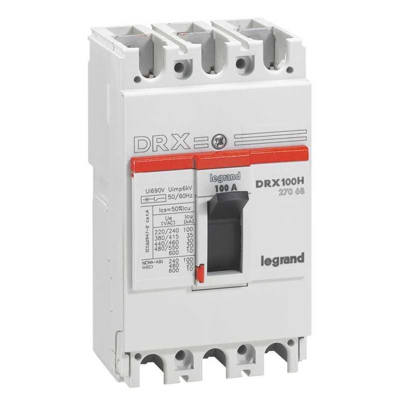 Caja Moldeada Sin Regulación Drx 125H - 35Ka 415V 3P 100A Legrand