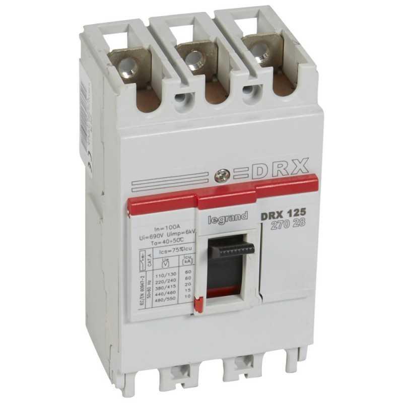 Caja Moldeada Sin Regulación Drx 125N - 20Ka  415V 100A Legrand