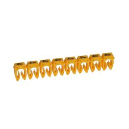 Marcador para Cables 1,5-2,5mm amarillo Legrand