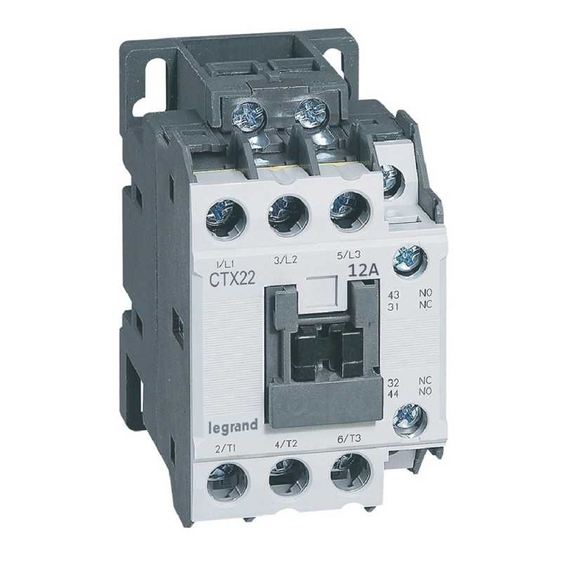 Contactor Ctx 3P 12A 1Na1Nc  230V Ac Legrand