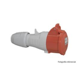 Enchufe Industrial P17 Vol 3P+T 32A/380V   . Legrand