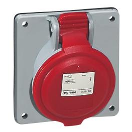 Enchufe Industrial P17/Toma Emb.3P+T 32A 380V Legrand