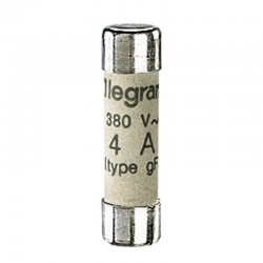 Fusibles Industriales Cilíndircos Tipo Gg(Rápidos) 8X32 4A. Legrand