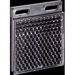 Reflector rectangular 47 x 47 mm fijación por tornillos.