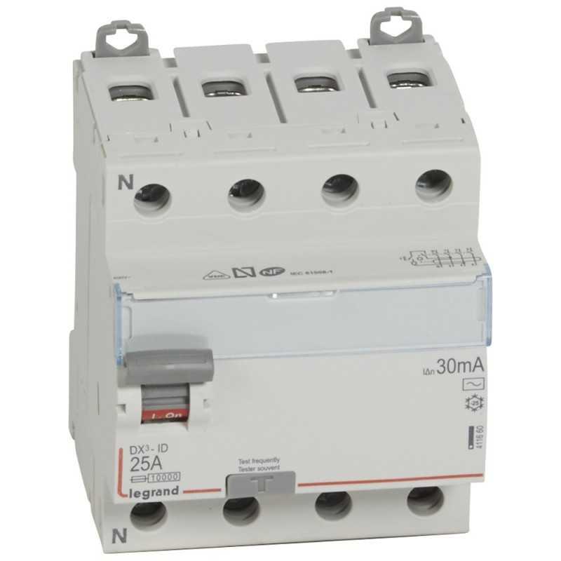 Interruptor Dx3 Diferencial Tipo Ac Tetrapolar Legrand