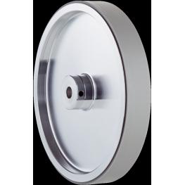 Rueda de medición de aluminio con superficie de poliuretano lisa para eje macizo de 10 mm perímetro 500 mm