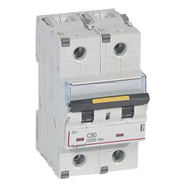 Interruptor Magnetotérmico 2P 80A  Dx3 10000 Curva C 16kA  Bipolar Legrand