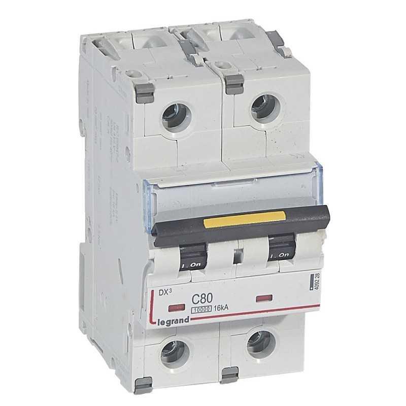 Interruptor Magnetotérmico Dx3 10000 Curva C 16 Ka  Bipolar Legrand