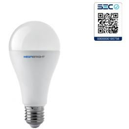 Ampolleta LED A65 Clásica 15W/3000K E-27