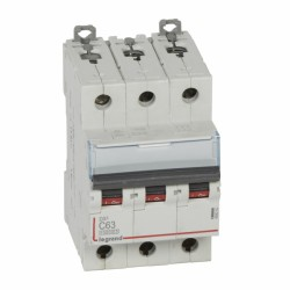 Interruptor Magnetotérmico Dx3 10000 Curva C 16 Ka  Tripolar Legrand