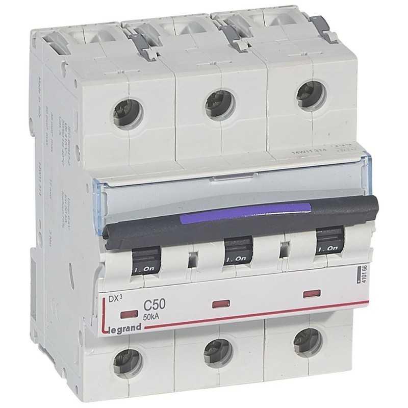 Interruptor Magnetotérmico Dx3 50Ka Curva C Tripolar Legrand