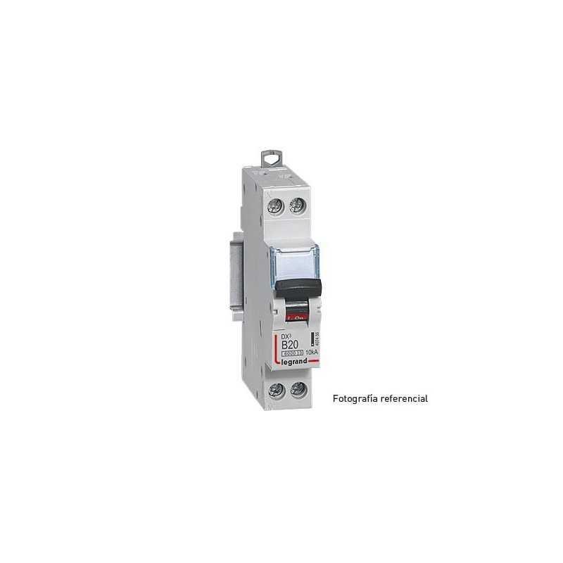 Interruptor Magnetotérmico Dx3 6000 Curva B 10 Ka Unipolar+ Neutro  Legrand