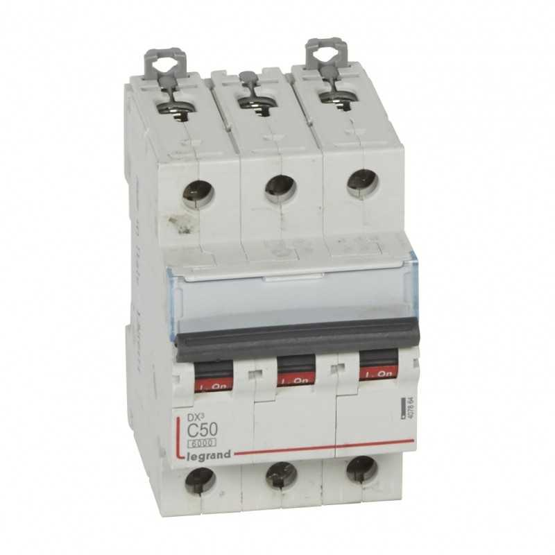 Interruptor Magnetotérmico Dx3 6000 Curva C 10 Ka Tripolar Legrand
