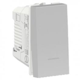 Interruptor Orion 9/12 16A 250V 1 Modulo-Aluminio