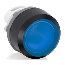 Pulsador Luminoso Rasante 22Mm Azul S/Contactos Cabezal Mp1-11L Abb