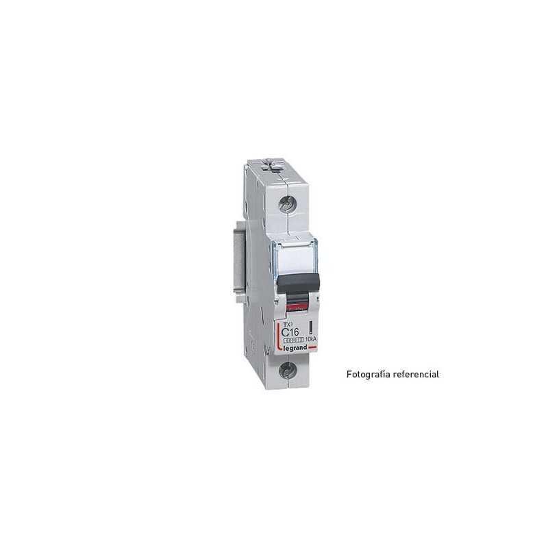 Interruptor Magnetotérmico Tx3 6000  Curva C 20A Unipolar Legrand