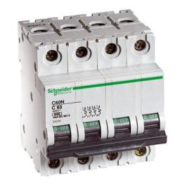 Interruptor Automatico 4P 3A C 10Ka C60N