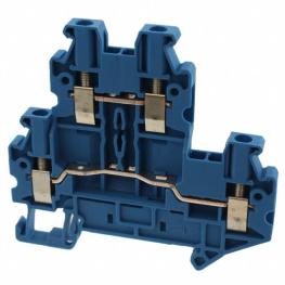 Borne Neutro 4mm Azul Conexion Tornillo Ns35/7,5 Ns35/15 Uttb 2,5 Bu