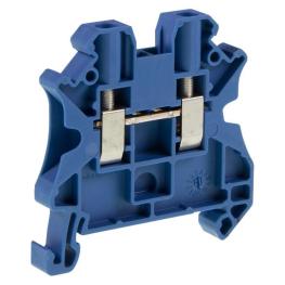 Borne Neutro 4mm Azul Conexion Tornillo Ut 4 Bu  Ex.46812