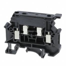 Borne Portafusible 4mm Negro  Hesila 250 N