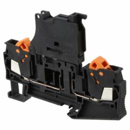 Borne Portafusible 5x20mm Negro  Qtc 2,5-Hesi (5x20)