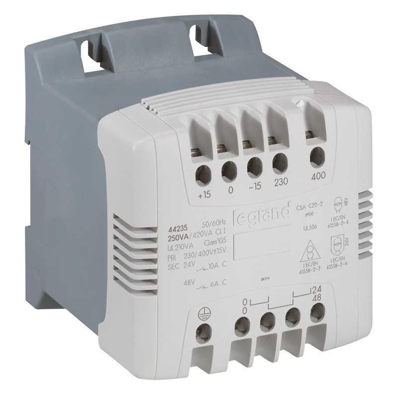 Transformador 230-400/115-230v 250va - Legrand