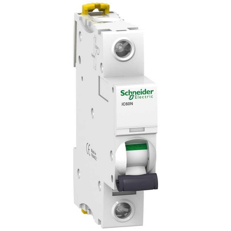 Interruptor termomagnetico iC60N 1P 16A curva C  Schneider