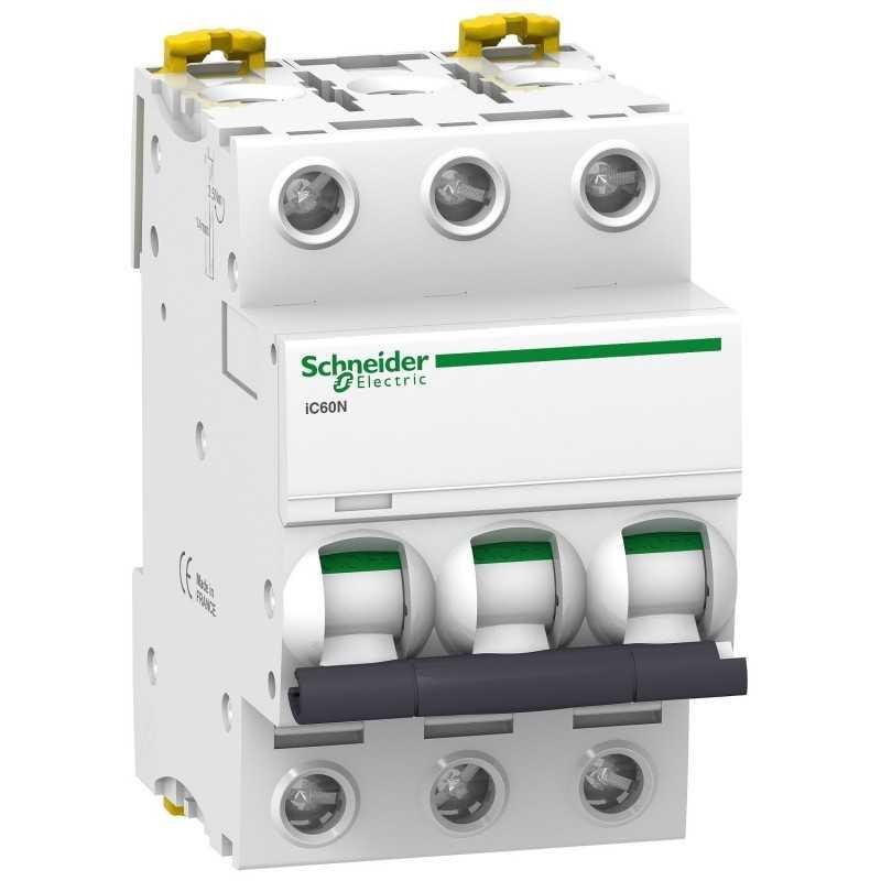 Interruptor termomagnetico iC60N 3P 20A curva C  Schneider