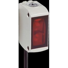 Sensor fotoeléctrico réflex, alcance 0... 5 m, emisor LED luz roja visible
