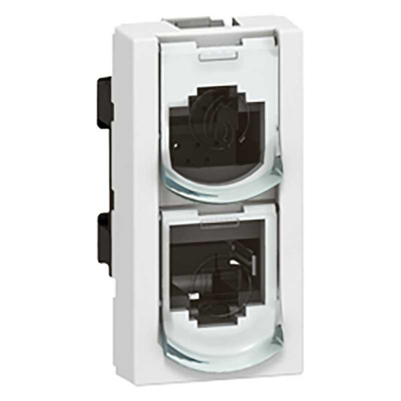 Tomas Dobles Rj 45 Ethernet/Ethernet Mosaic Legrand