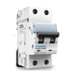 Interruptor Termomagnético 2P Curva C 10kA 32A