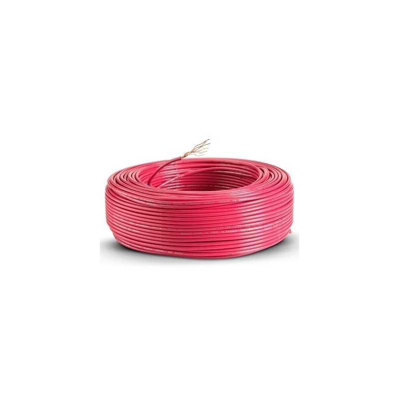 Cable Control Libre Halogeno 4 Mm Rojo