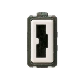 Modulo Enchufe 2P+T 10A 250V Seguridad Irreversible